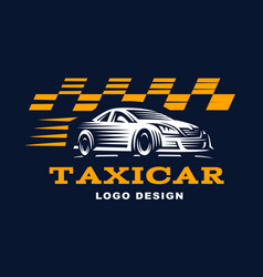 modern taxi cab logo for company vector image
