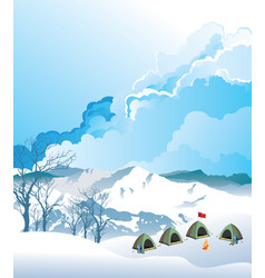 Mountaineering base camp vector
