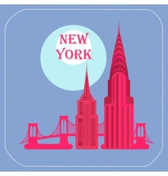 New york empire state building chrysler building vector