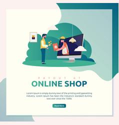 online shop payment vector image