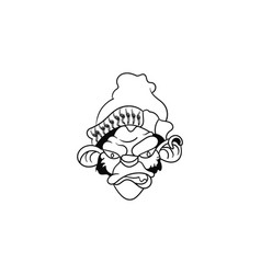 outline angry gorilla logo vector image