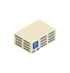 Parking building icon isometric 3d style vector