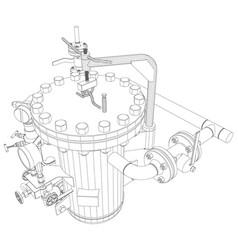 Picture of heat exchanger vector