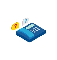 Question signs and telephone icon vector