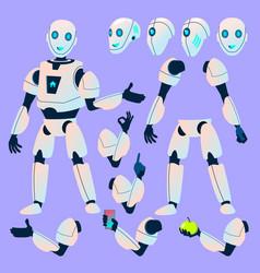 Robot helper animation creation set vector