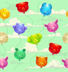 seamless pattern with colorful animal shaped vector image