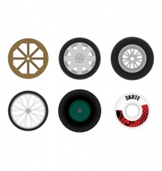 Set of different wheels vector