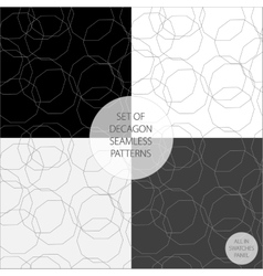Set of four patterns in monochrome vector