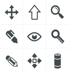 Set of Icons Set Design vector image