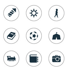 Set of simple kid icons vector