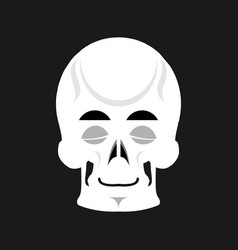skull sleeps emoji skeleton head asleep emotion vector image