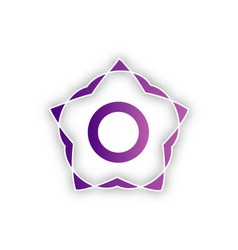 Stylized flower design element vector image
