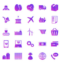 supply chain gradient icons on white background vector image