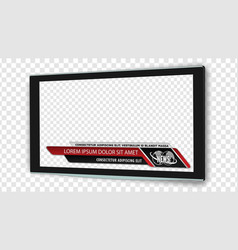 Tv flat screen lcd with news bars or lower third vector