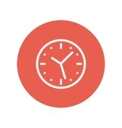 Wallclock thin line icon vector