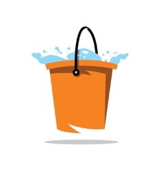 Water Bucket Cartoon vector