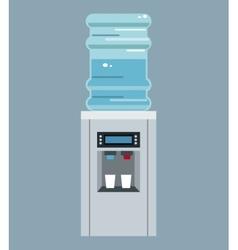 water cooler bottle office equipment vector image