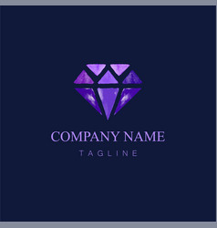 watercolor diamond logo design7 vector image
