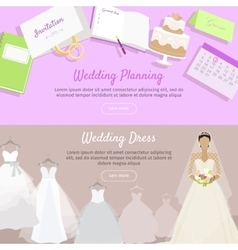 Wedding Planning and Dress Web Banner vector image