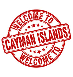 Welcome to cayman islands vector