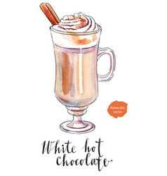 White hot chocolate vector