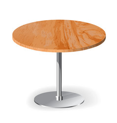 Wooden textured table vector