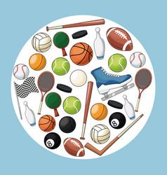 sport accessories equipment icon vector image vector image