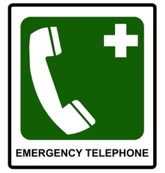 Emergency hospital telephone safety signs vector image