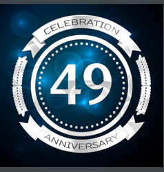 forty nine years anniversary celebration with vector image vector image