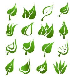 Leaf icon set vector image vector image