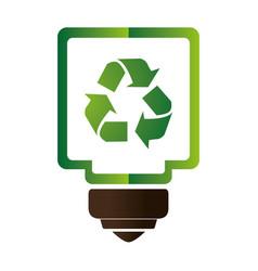 Saving bulb isolated icon vector