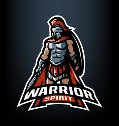 warrior spirit the roman warrior logo vector image