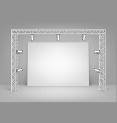 white poster with wall spotlights illumination vector image