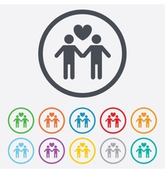 Couple sign icon Male love male Gays vector image