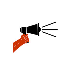 hand holding megaphone icon vector image