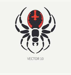 line flat color wildlife fauna icon black vector image