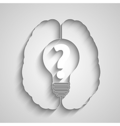 Pictograph of question mark vector image