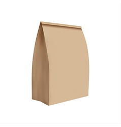 Simple of paper bag vector image