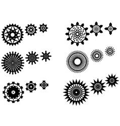 Unique gear wheels set vector image