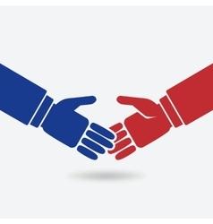 business teamwork logo concept vector image