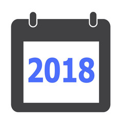 calendar 2018 icon on white background flat vector image vector image