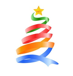 happy Christmas tree vector image vector image