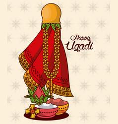 Happy ugadi design vector