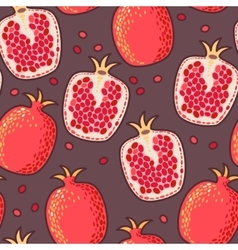 Seamless pomegranate vector image vector image