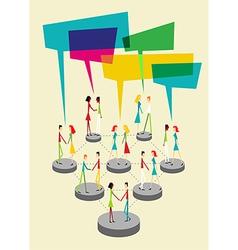 Social people balloon interaction vector