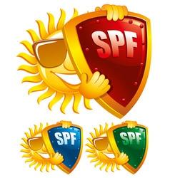 sun protection symbol creative vector illustration vector image vector image