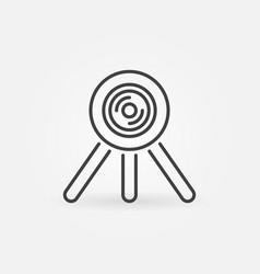 360 degree camera on tripod outline icon vector