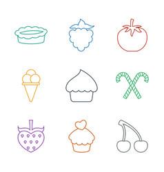 9 dessert icons vector