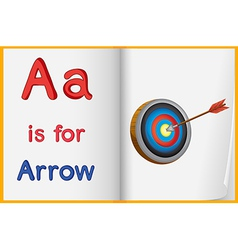 A picture of an arrow in book vector
