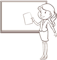 A plain sketch of a teacher vector image